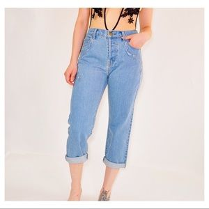 Women's embroidered cropped jeans